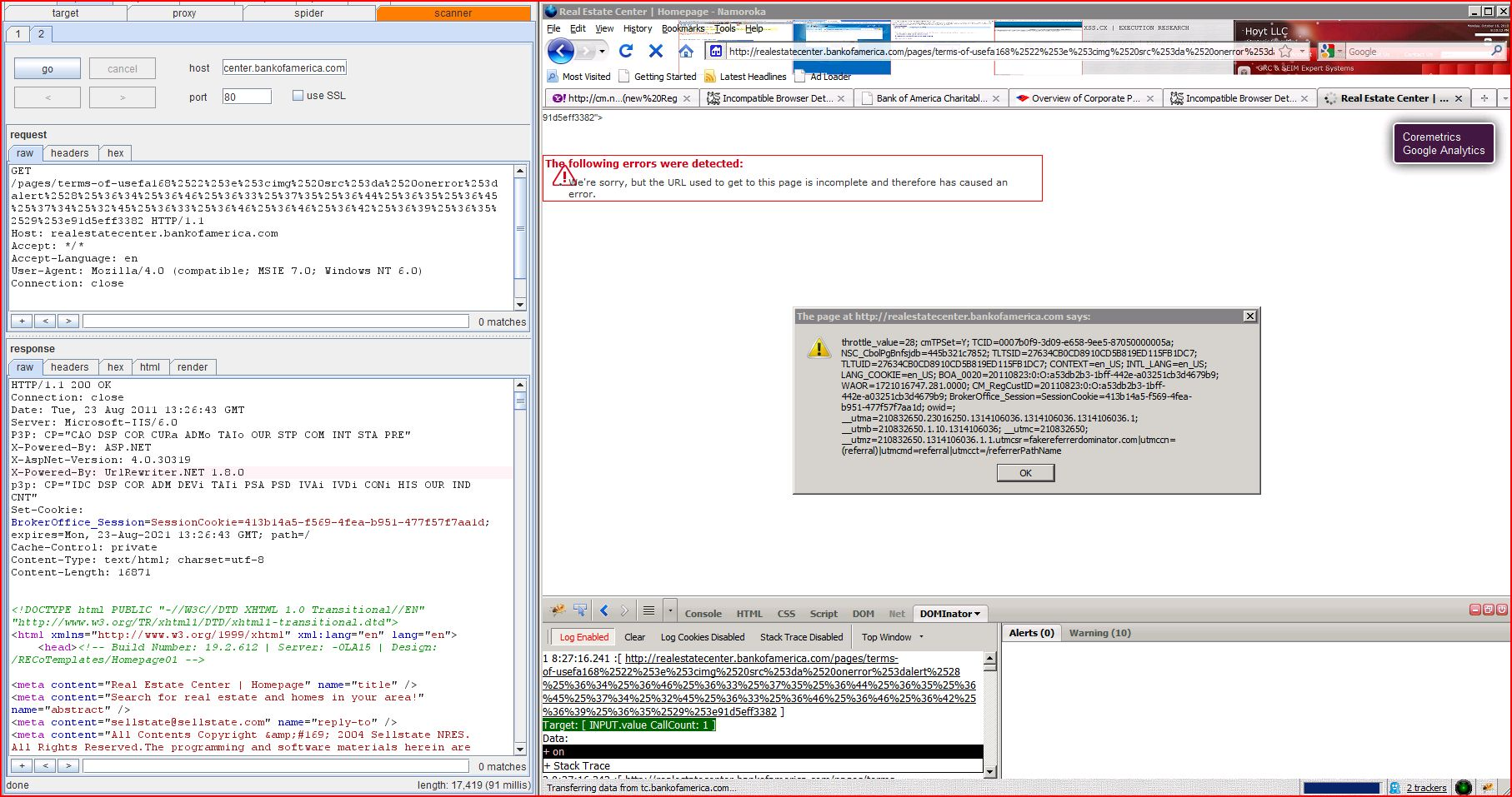 xss reflected cross site scripting cwe 79 capec 86 realestate