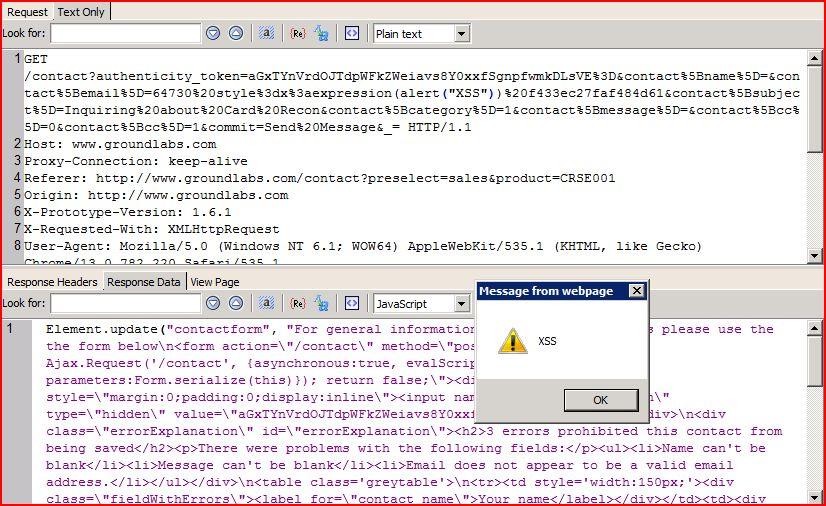 XSS in groundlabs.com, XSS, DORK, GHDB, Cross Site Scripting, CWE-79, CAPEC-86, BHDB, Javascript Injection, Insecure Programming, Weak Configuration, Browser Hijacking, Phishing