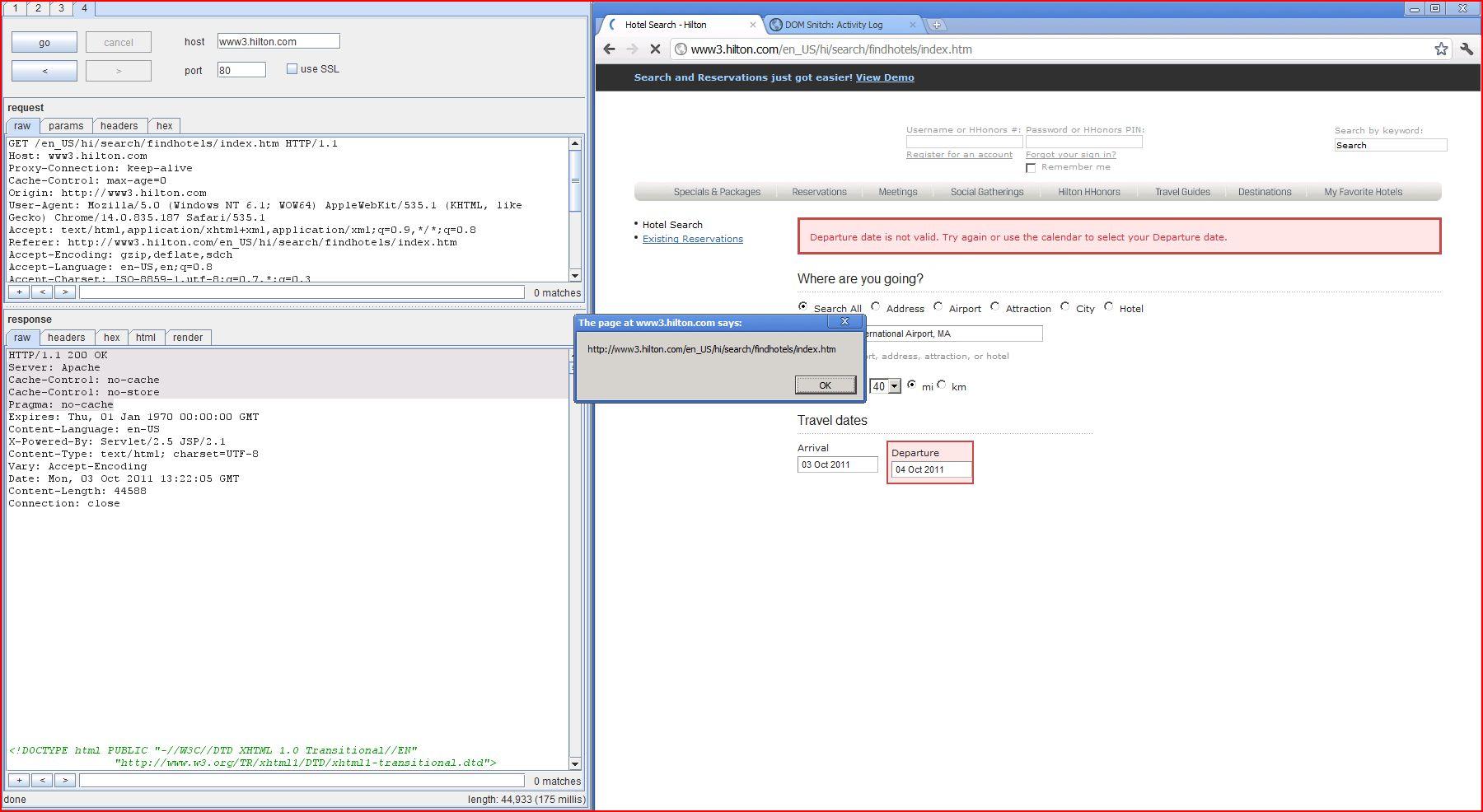 XSS in www3.hilton.com, XSS, DORK, GHDB, Cross Site Scripting, CWE-79, CAPEC-86, Phishing, Weak Configuration