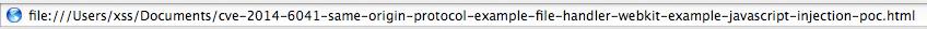 file:///, CVE-2014-6041, Same Origin Policy, SOP, WebKit, Safari, SOP, innerHTML Read Test