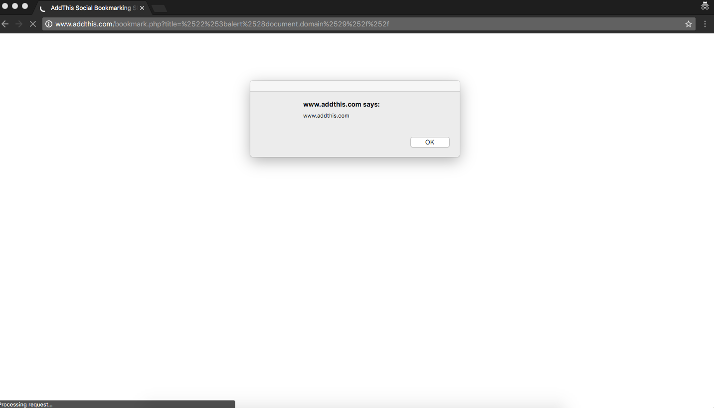 XSS, addthis.com, Javascript Injection, location.query, Title + URL Parameter