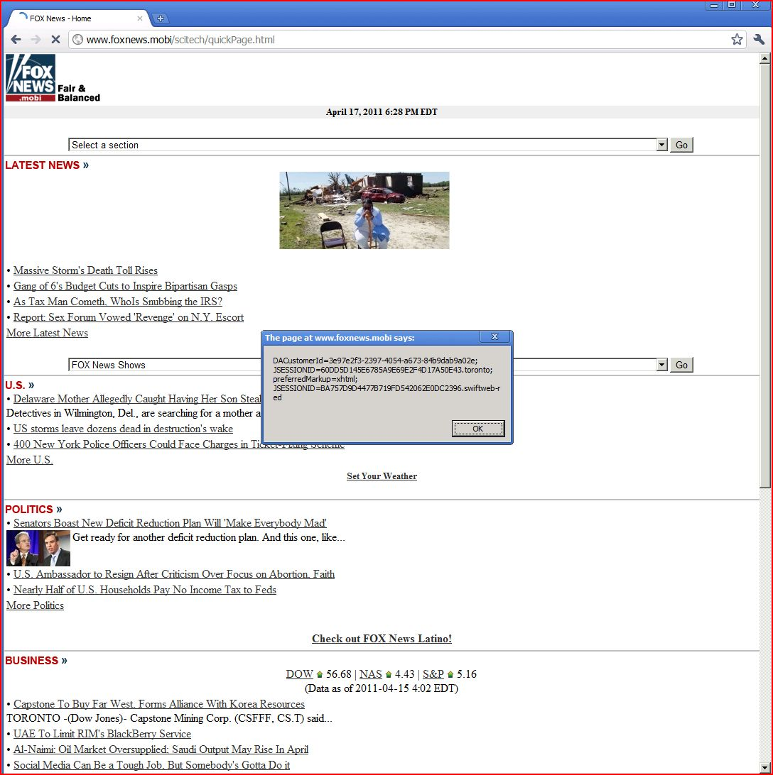 XSS in foxnews.mobi, DORK, XSS, Cross Site Scripting, CWE-79, CAPEC-86