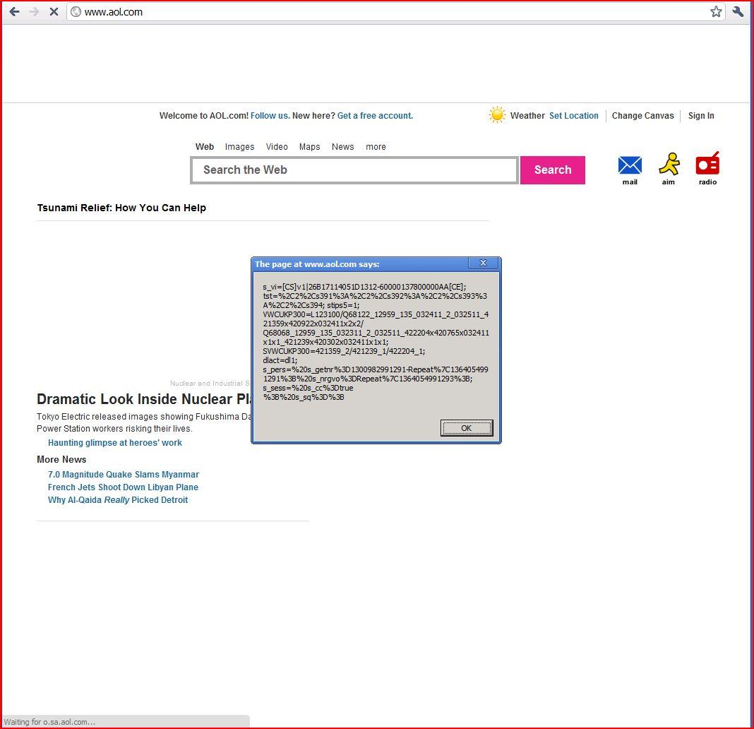 XSS in www.aol.com, DORK, Cross Site Scripting, CWE-79, CAPEC-86